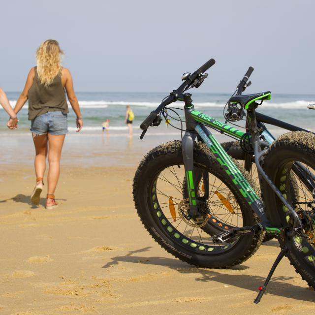 Balade à vélo à Saint Girons plage