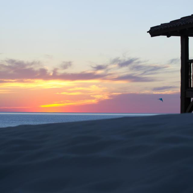 Coucher de soleil à Saint Girons plage | Côte Landes Nature Tourisme