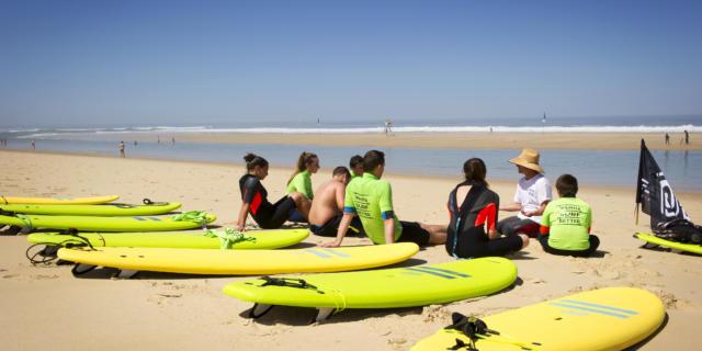 Surf au Cap de l'Homy à Lit et Mixe | Côte Landes Nature