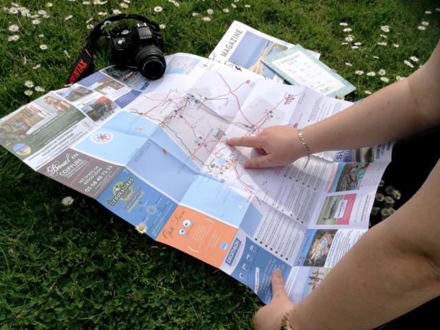 Carte touristique de Côte Landes Nature