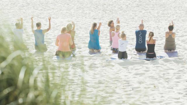 Yoga sur la plage | Côte Landes Nature