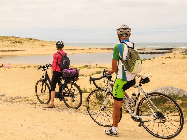 Le courant de Contis vu par les cyclistes | Côte Landes Nature Tourisme