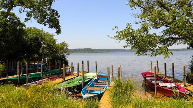 Embarcadère des Bateliers pour le Courant d'Huchet au Lac de Léon