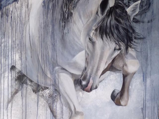 Acrylique Etalon Fou par Anne Larose