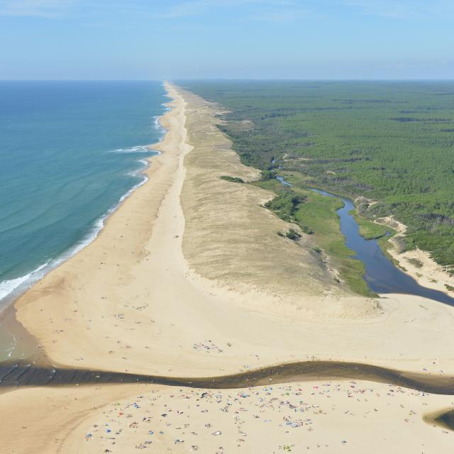 L'embouchure du Courant d'Huchet | Côte Landes Nature Tourisme