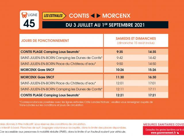 Transports Nouvelle Aquitaine Ligne45 Ete2021