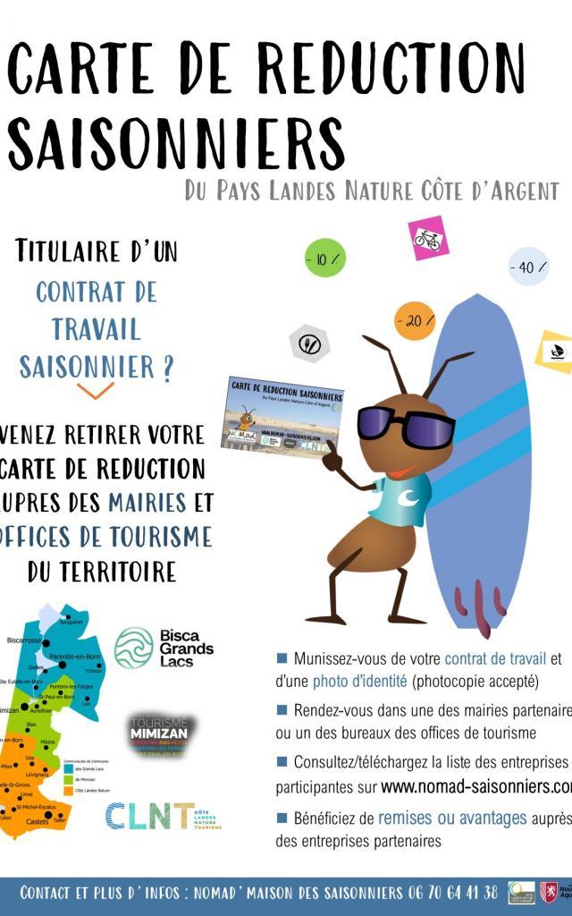 Carte Réduction 2021 de Léon à Biscarosse