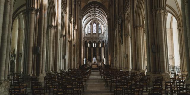 Intérieur de la cathédrale de Coutances