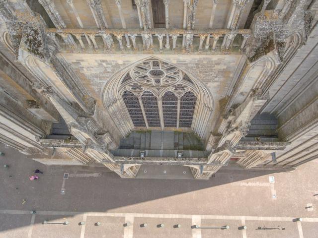 Façade de la cathédrale de Coutances
