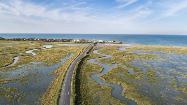 Havre de Blainville sur Mer vu du ciel