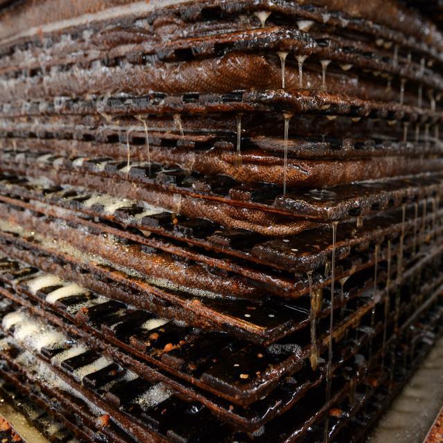La presse à pommes pour produire le cidre cotentin