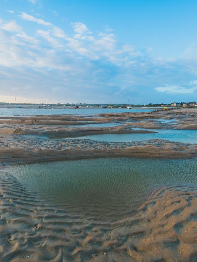 Havre de regnéville sur mer à marée basse