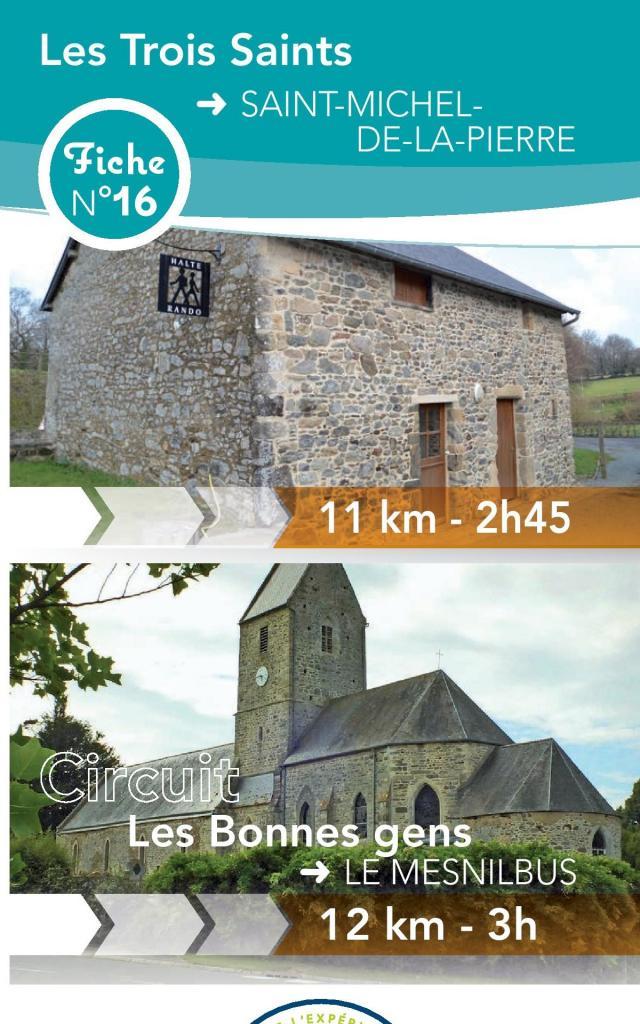Fiche 16 Saint Michel De La Pierre des circuits de Coutances Tourisme