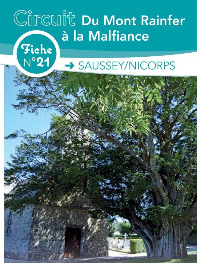 Fiche 21 Saussey Nicorps des circuits de randonnée de Coutances tourisme