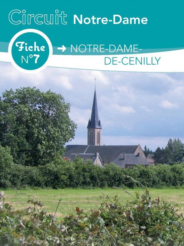 Fiche 7 Notre Dame De Cenilly des circuits de randonnée de Coutances Tourisme