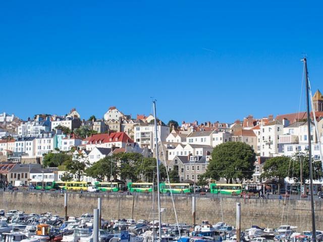 Guernsey vue du port