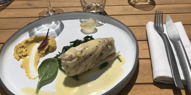 Plat au restaurant salicorne d'Agon-Coutainville