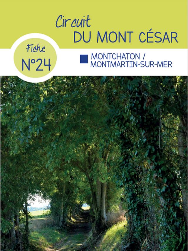Fiche 24 Montchaton Montmartin circuit de randonnée de Coutances Tourisme