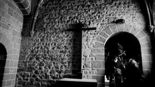 Visite d'un édifice religieux au Mont saint Michel