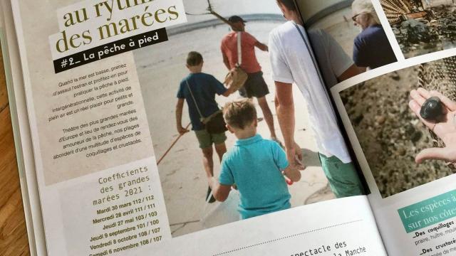 Page du magazine touristique de Coutances Tourisme 2021