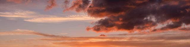 Coucher de soleil sur la plage de Gouville-sur-Mer