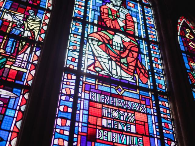 Verrières de la cathédrale de Coutances Le jugement dernier