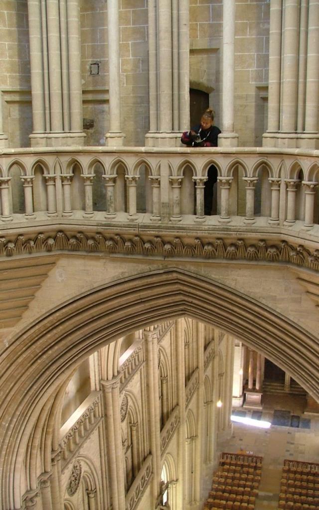 Parties hautes de la tour lanterne de la cathédrale de Coutances