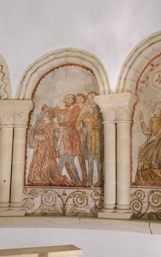 Cycle de sainte barbe dans l'église de Savigny