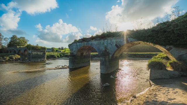 Pont de la roque à Heugueville sur Sienne pour admirer le mascaret