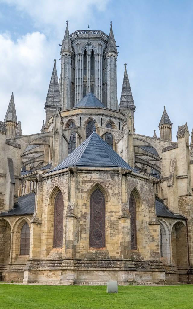 Vue arrière de la cathédrale