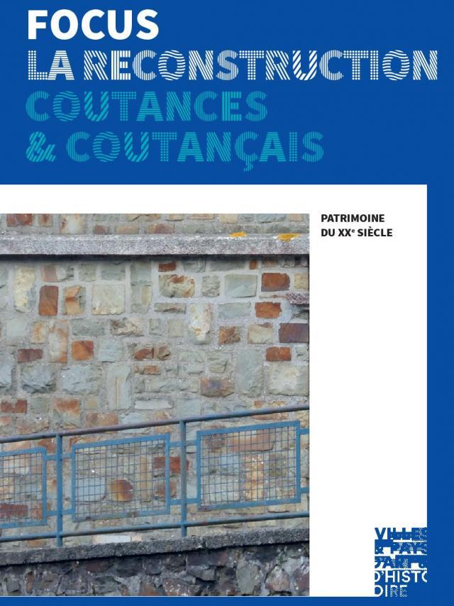 Couverture Focus reconstruction brochure du pays d'art et d'histoire du coutançais