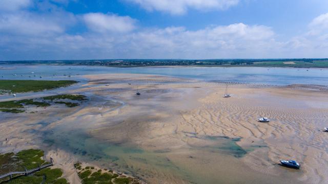 Havre De Regnéville a marée basse vu du ciel