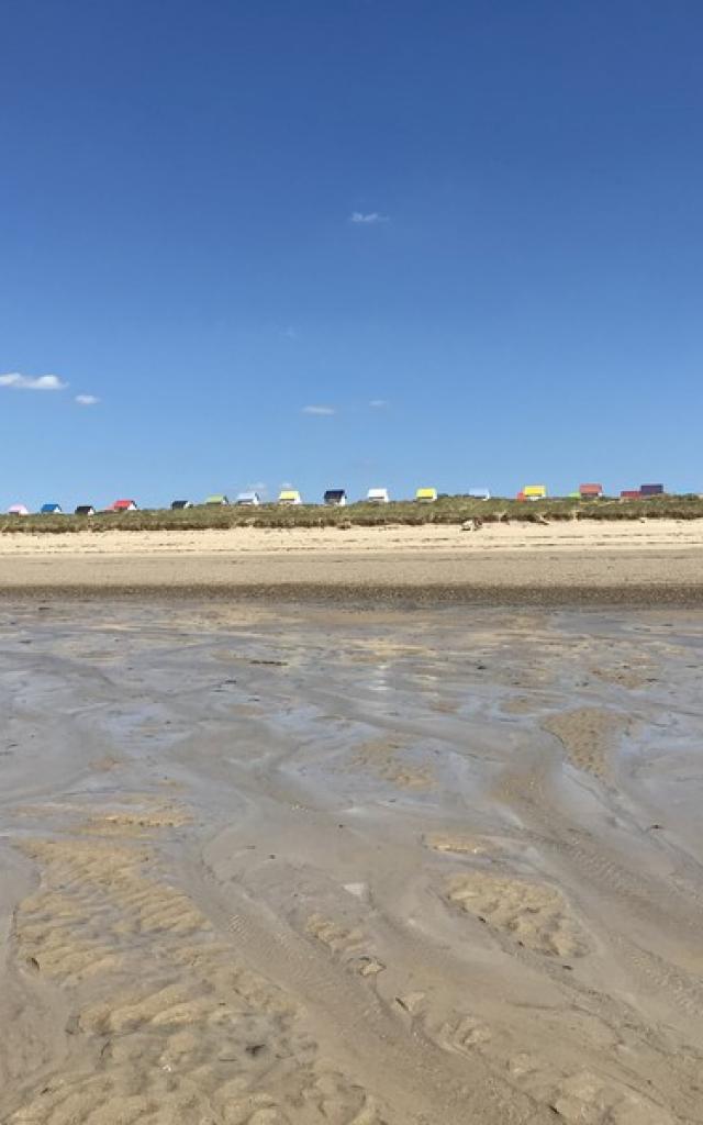 Estran marée basse à Gouville sur mer