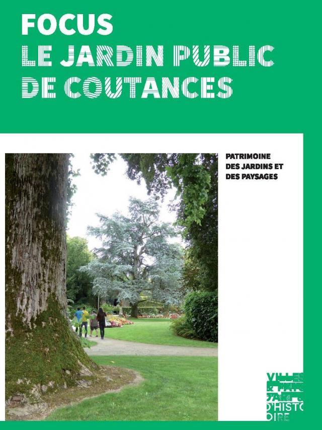 Couverture du Brochure sur le jardin des plantes de coutances par le pays d'art et d'histoire du coutançais
