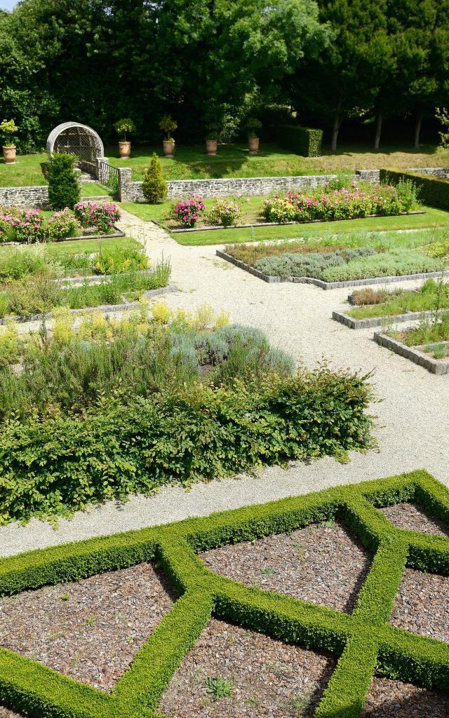 Jardin Du Musée Tancrède De Hauteville La Guichard