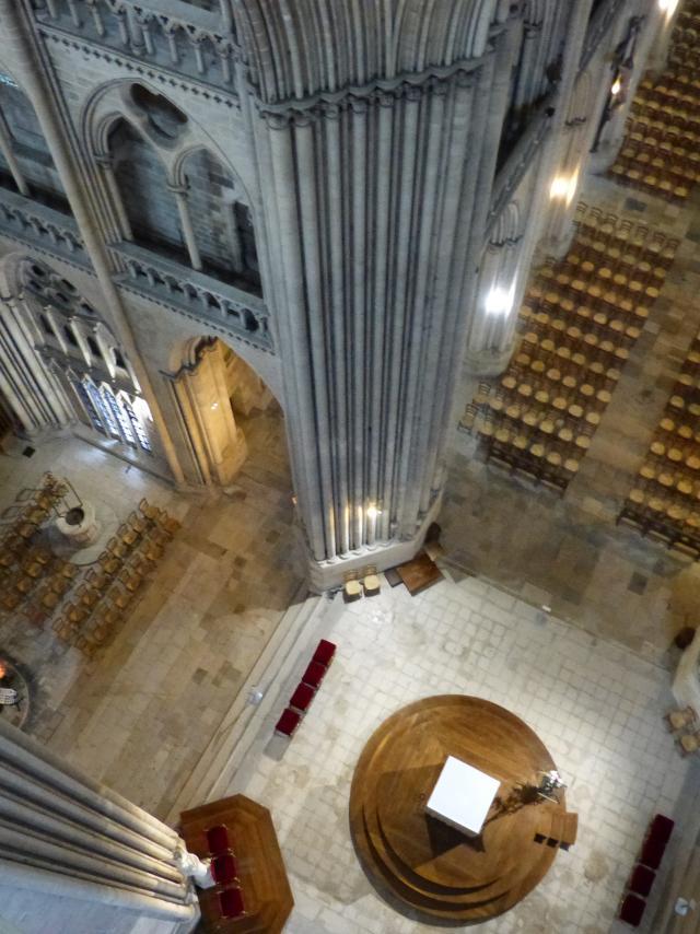 Visite des parties hauts de la cathédrale de Coutances