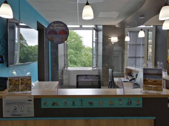 Mesures sanitaires à l'office de tourisme de Coutances