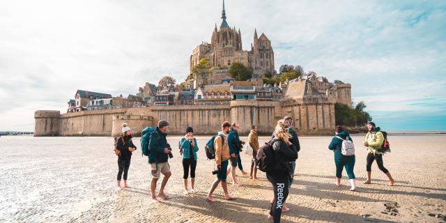 Rando dans la baie du Mont-Saint Michel