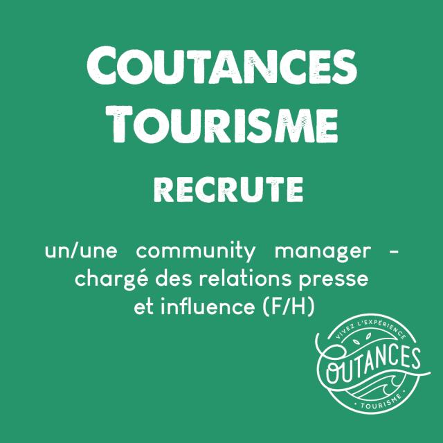 Recrutement Coutances Tourisme