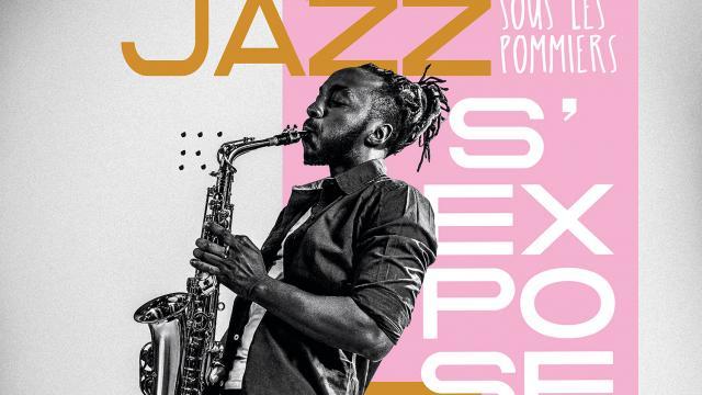 Affiche de l'exposition jazz sous les pommiers 2021