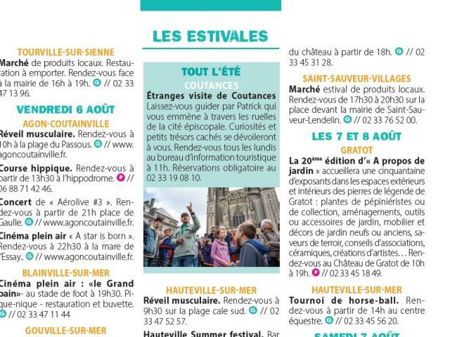 Focus des estivales 2021 de Coutances Tourisme