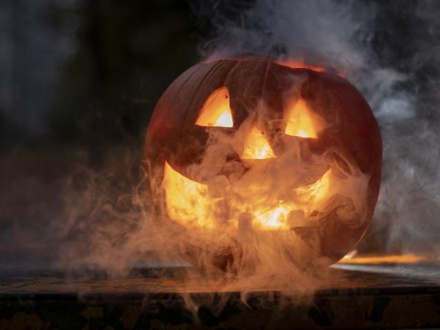 Citrouille d'Halloween pour la journée des enfants à Agon-Coutainville