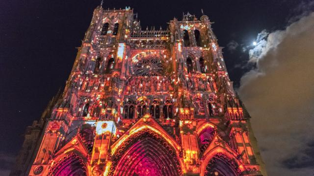 Amiens _ Cathédrale Notre Dame _ Spectacle Chroma © CRTC Hauts-de-France - Stéphane Bouilland