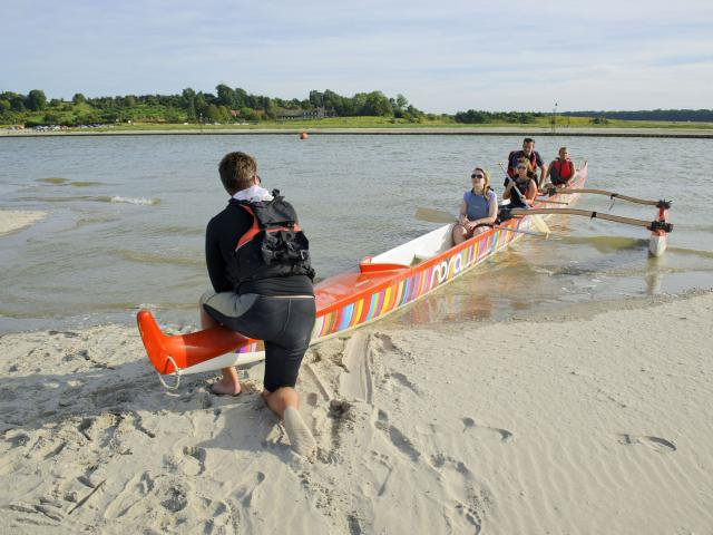 Baie de Somme_Pirogue de mer avec Mathieu Cornu ©CRTC Hauts-de-France - Vincent Colin