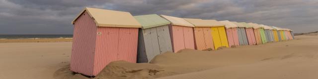 Berck-sur-Mer _ Les cabines de plage en fin de saison © CRTC Hauts-de-France - Stéphane Bouilland