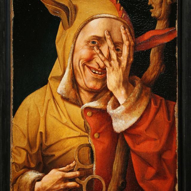 Cassel _ musée de Flandre _ portrait de fou regardant à travers ses doigts © Frédérik Astier