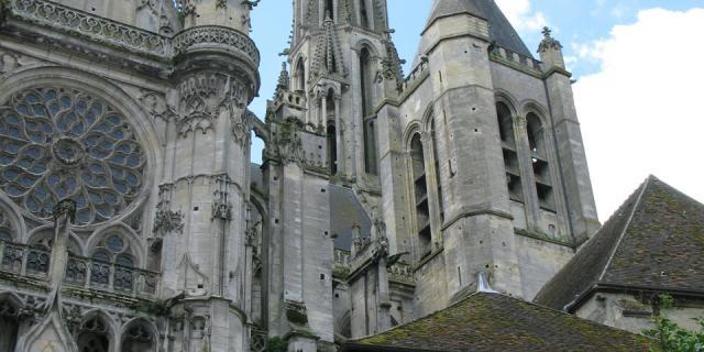 Senlis _ Cathédrale Notre-Dame _ Façade Nord © Chantilly Senlis Tourisme