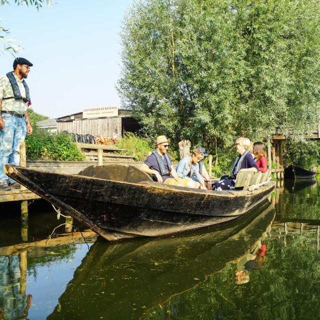 Clairmarais, Bacove et faiseurs de bateaux dans le marais audomarois © P. Hudelle, Tourisme en Pays de Saint-Omer