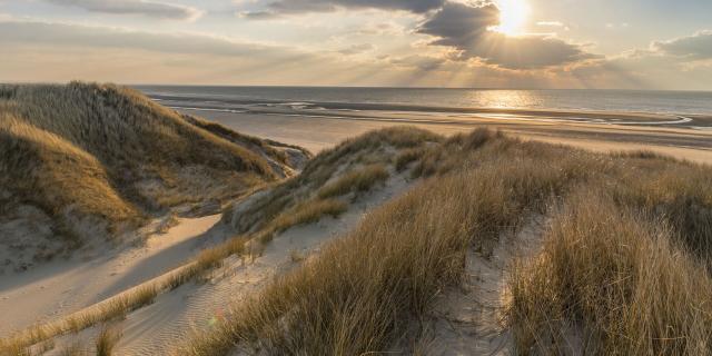 Les dunes du Marquenterre entre Fort-Mahon et la Baie d'Authie © CRTC Hauts-de-France - Stéphane Bouilland