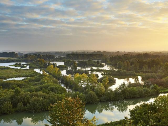 Frise, Haute-Somme, Randonnée dans les étangs de la Vallée de la Haute Somme ©CRTC Hauts-de-France- Guillaume Crochez
